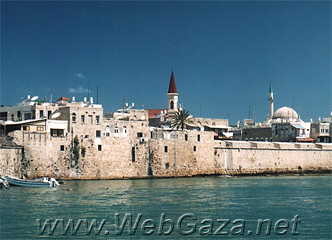 Acre (Akka) City - The port entrance to Palestine because of its location by the Mediterranean sea that made Akka an excellent seaport.