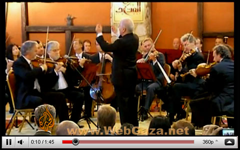 Barenboim Conducts Peace Concert in Gaza