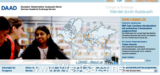 DAAD - The German Academic Exchange Service (DAAD) is the largest funding organisation in the world supporting the international exchange of students and scholars.
