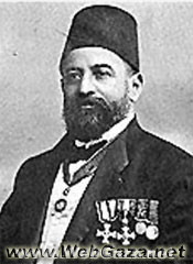 Faidi Al-Alami - Mayor of Jerusalem 1906-09 and elected member of the (Administrative Council) for the sanjaq of Jerusalem in the Ottoman Parliament, 1914-18.
