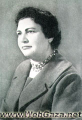 Sara Hanoun - Born in Tulkarem in 1924; contributed in transforming the Women's Coalition Club into the Red Crescent Society after 1955.