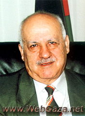 Rafiq Natsheh - PhD from Moscow University; first PLO representative to Saudi Arabia; PA Minister of Labor from 1998-2002; Minister of Agriculture June 2002.